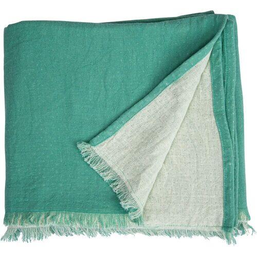 TOM TAILOR Plaid »Fringed Cotton«, , mit Fransen, grün