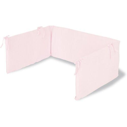 Pinolino® Bettnestchen »Nestchen für Kinderbetten, Jersey, weiß«, rosa