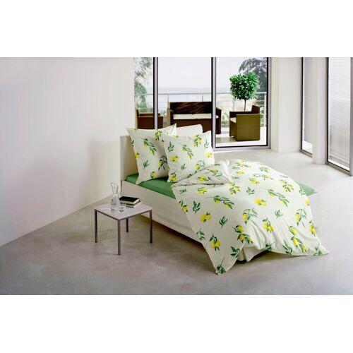 BIERBAUM Bettwäsche »Zitrone«, , mit leuchtenden Zitronen