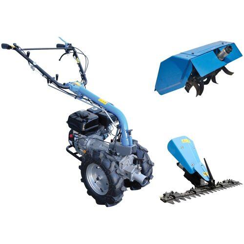 Güde GÜDE Set: Motoreinachser »GME«, 4,8 kW/6,5 PS, mit Zapfwellenantrieb, blau