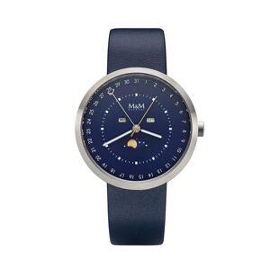 M&M Digitaluhr »Armbanduhr«, silber-dunkelblau