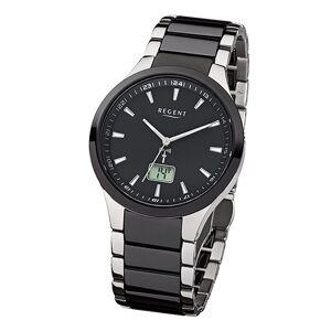 Regent Funkuhr »URFR237 Herren-Armbanduhr schwarz silber«
