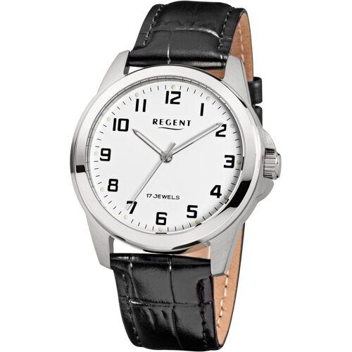 Regent Mechanische Uhr »3501, F819«, schwarz
