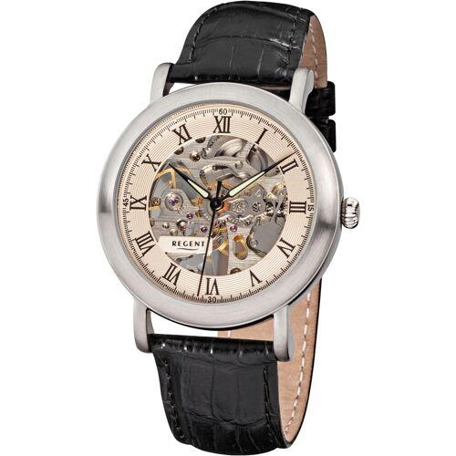 Regent Mechanische Uhr »3523, F757«, schwarz