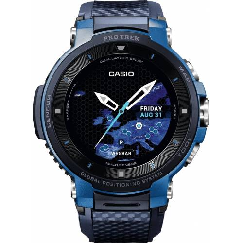 Casio PRO TREK Smart WSD-F30-BUCAE Smartwatch (Wear OS by Google)