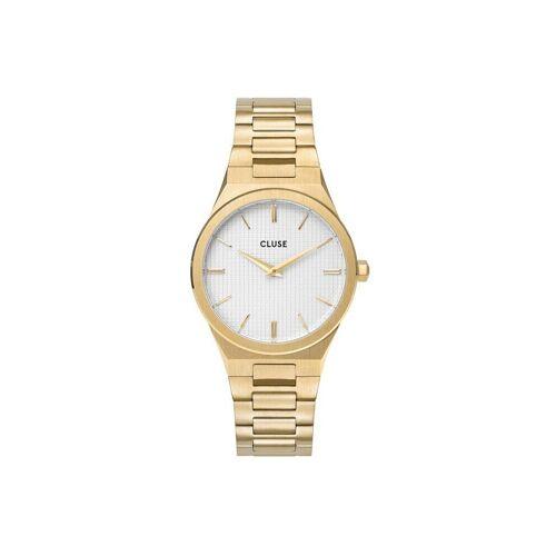 CLUSE Uhr »Uhr Vigoureux«, gold-schneeweiß