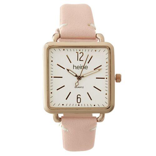 heine Armbanduhr in modischer Form, rosé