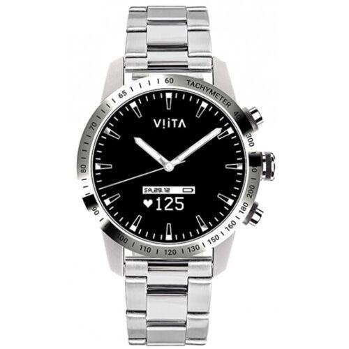 Viita Hybrid HRV Tachymeter 45mm Smartwatch Steel - Silver Bluetooth Smartwatch