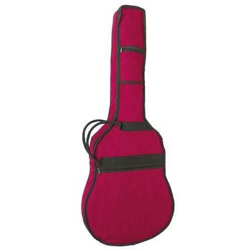 Gitarrentasche »Gig Bag«, gepolstert, für Westerngitarren 4/4, rot