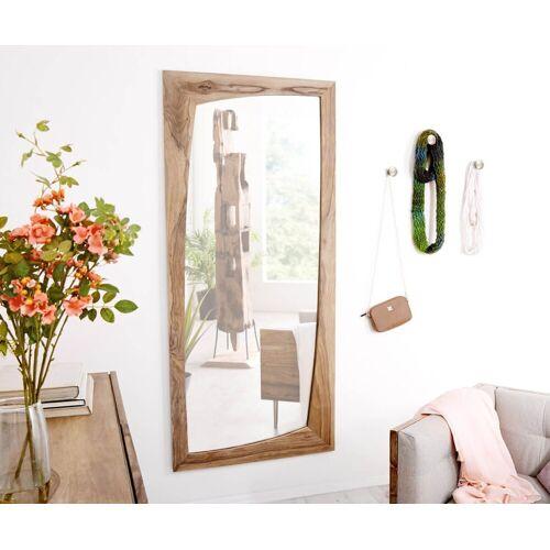 DELIFE Spiegel »Wyatt«, Sheesham Natur 160x70 cm Unregelmäßig Designer Wandspiegel, Natur