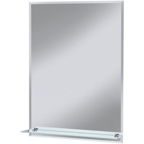welltime Badspiegel »Flex«, mit Glasablage und Facettenschliff