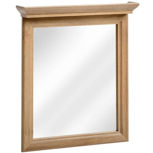 Lomadox Badspiegel »CELAYA-56«, Landhaus Badezimmer Spiegel 65 cm, Holzoptik Eiche Nb. B x H x T ca. 65 x 76 x 11cm