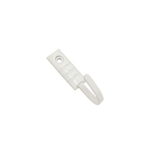 GARDINIA Gardinenring »Raffhaken Geo weiß 2,5 cm«,