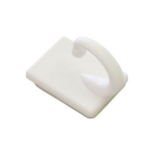 GARDINIA Gardinenring »Raffhaken selbstklebend weiß 2,5 cm«,