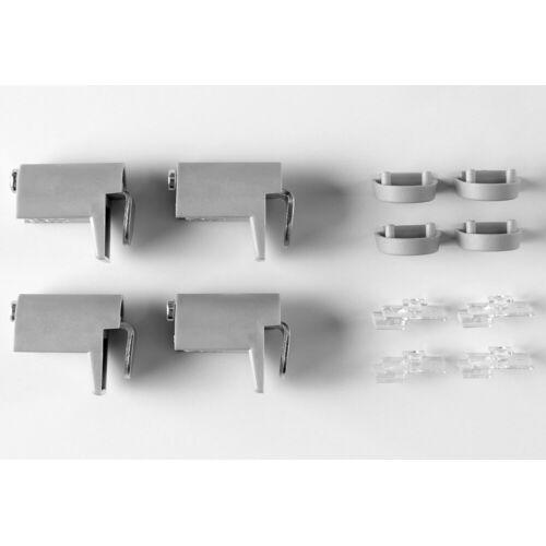 Good Life Klemmhalter, , Plissees, (Set, 4-tlg), im Wunschmaß, zweiseitig verschiebbar, grau