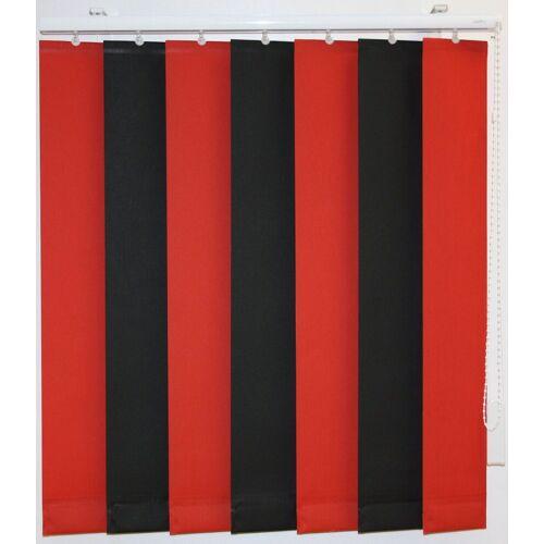 sunlines Lamellenvorhang nach Maß, , mit Bohren, mit Beschwerungsplatten, ohne Teilung, schwarz-rot