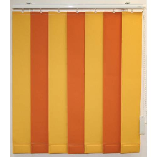 sunlines Lamellenvorhang nach Maß, , mit Bohren, mit Beschwerungsplatten, ohne Teilung, gelb-apricot