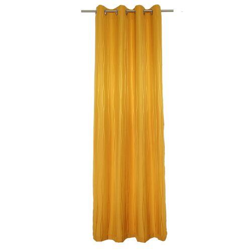 Wirth Vorhang »LANGWASSER«, , Ösen (1 Stück), gelb