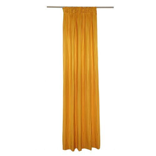 Wirth Vorhang »LANGWASSER«, , Smokband (1 Stück), gelb