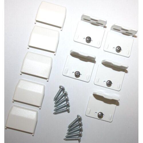 sunlines Sichtschutzzüge Montagezubehör, , Plissees, (Packung, 5-tlg), für die Rahmen/-Wandmontage von Plissees, weiß