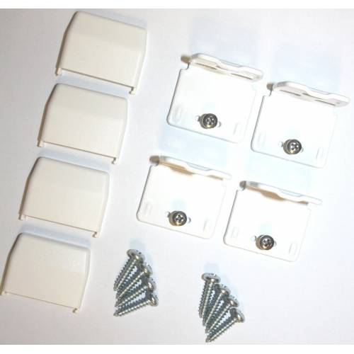 sunlines Sichtschutzzüge Montagezubehör, , Plissees, (Packung, 4-tlg), für die Rahmen/-Wandmontage von Plissees, weiß