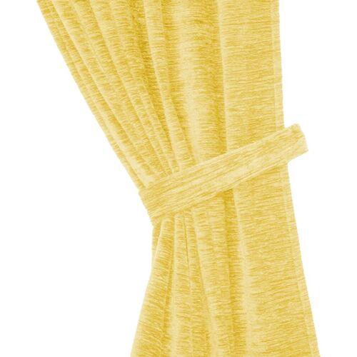 Wirth Raffhalter »Thermo-Chenille 288g/m²«, , Gardinen, (2-tlg), gelb