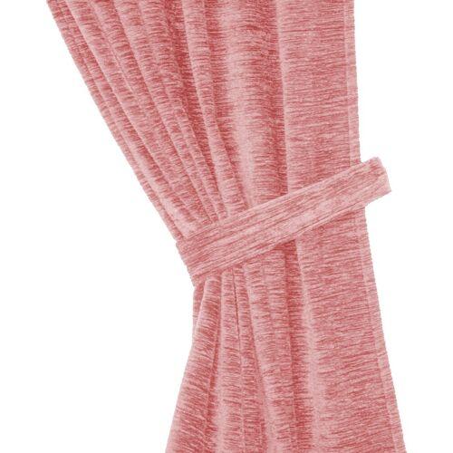 Wirth Raffhalter »Thermo-Chenille 288g/m²«, , Gardinen, (2-tlg), rosa