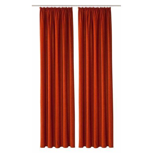 VHG Vorhang »Amy«, , Kräuselband (2 Stück), rost