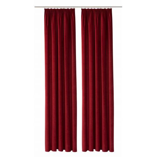 VHG Vorhang »Amy«, , Kräuselband (2 Stück), weinrot