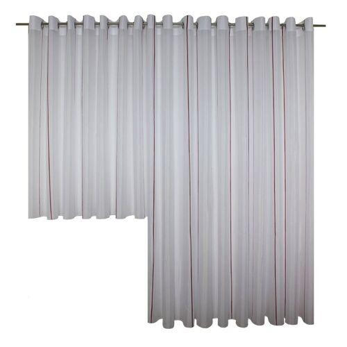 Wirth Vorhang »Betsy«, , Ösen (1 Stück), Store, rot