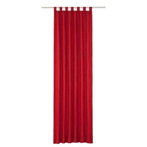 Wirth Vorhang »Toco-Uni«, , Schlaufen (1 Stück), rot