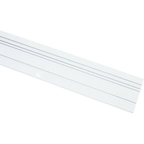 GARDINIA Vorhangschiene, , 1-läufig, Fixmaß, Serie Aluminim-Vorhangschiene, weiß