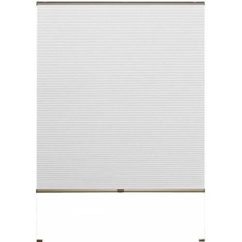 Good Life Doppelplissee nach Maß »Rena«, , verdunkelnd, mit Bohren, verspannt, bronzefarbene Profilschiene, weiß