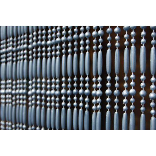 La Tenda Türvorhang »CASA Türvorhang FREJUS 5 Perlenvorhang Fliegenvorhang Terrasentürvorhang Balkonvorhang grau«, , individuell in der Länge kürzbar