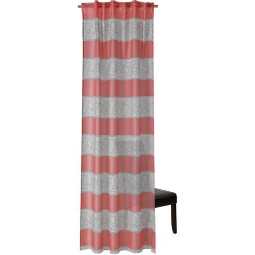 Neutex for you! Vorhang nach Maß »JOY«, , verdeckte Schlaufen (1 Stück), Schal mit verdeckten Schlaufen, rot