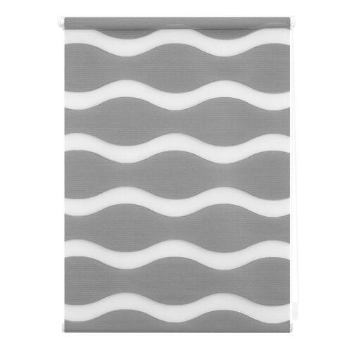 LICHTBLICK Doppelrollo »Duo Rollo Klemmfix Welle«, , Lichtschutz, ohne Bohren, im Fixmaß, grau