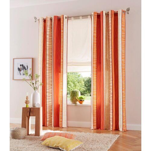 my home Vorhang »Gosen«, , Ösen (2 Stück), Gardine, Fertiggardine, blickdicht, terra