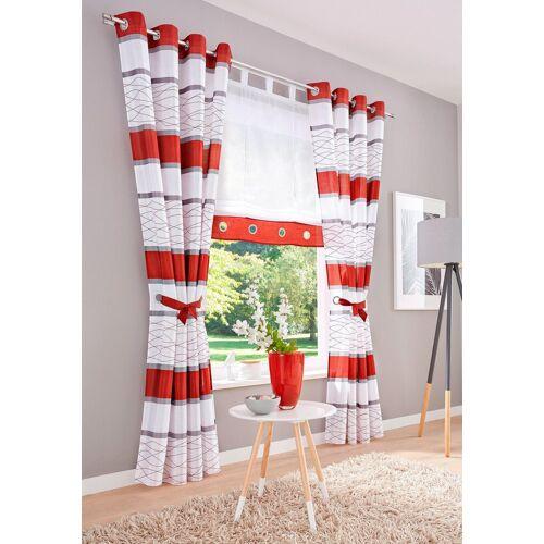 my home Raffrollo »Maria«, , mit Schlaufen, rot