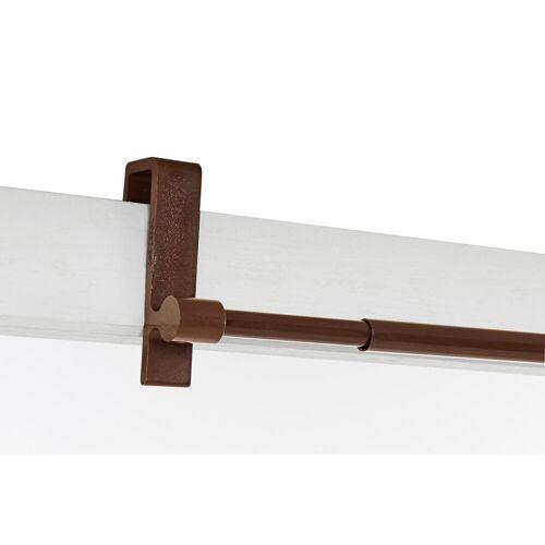heine home Spanngardinenstange clip ausziehbar, braun