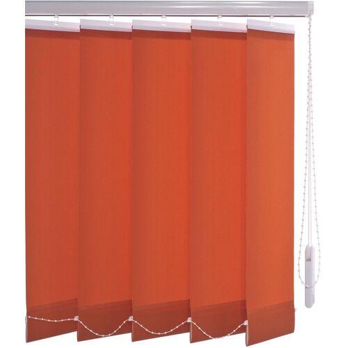 Liedeco Lamellenvorhang »Vertikalanlage 127 mm«, , mit Bohren, rot