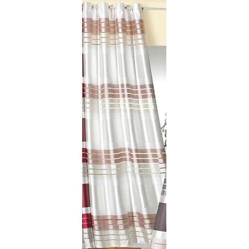 Weckbrodt Vorhang »Lotta«, , Ösen (1 Stück), HxB: 245x140, beige-perlmuttfarben-weiß