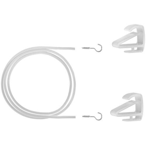 LICHTBLICK Seilspanngarnitur »Gardinenspannseil Klemmfix«,