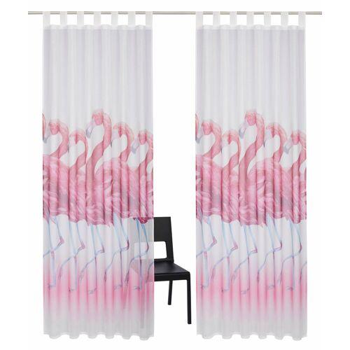 my home Gardine »Flamingo«, , Schlaufen (2 Stück)