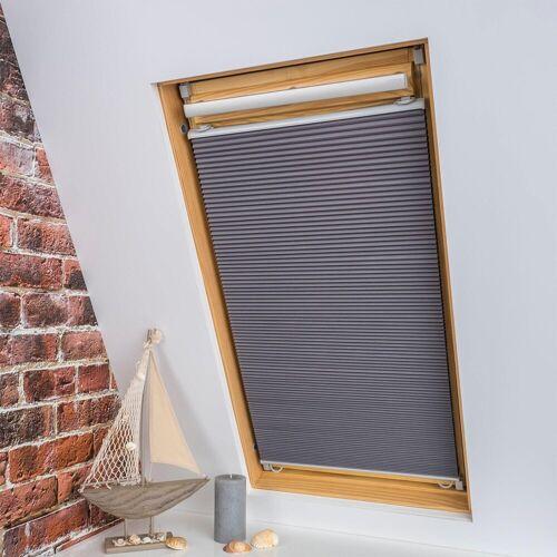 Liedeco Dachfensterplissee »Universal Dachfenster-Plissee«, , verdunkelnd, ohne Bohren, verspannt, Fixmaß, grau