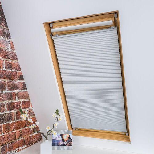 Liedeco Dachfensterplissee »Universal Dachfenster-Plissee«, , verdunkelnd, ohne Bohren, verspannt, Fixmaß, weiß