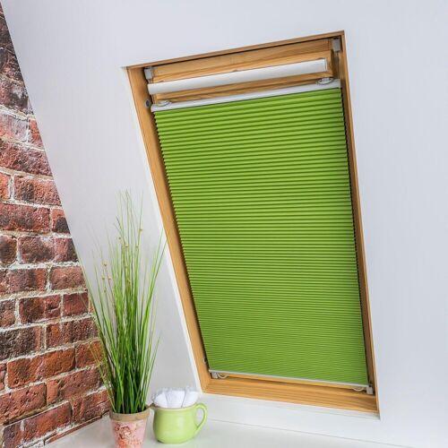 Liedeco Dachfensterplissee »Universal Dachfenster-Plissee«, , verdunkelnd, ohne Bohren, verspannt, Fixmaß, grün