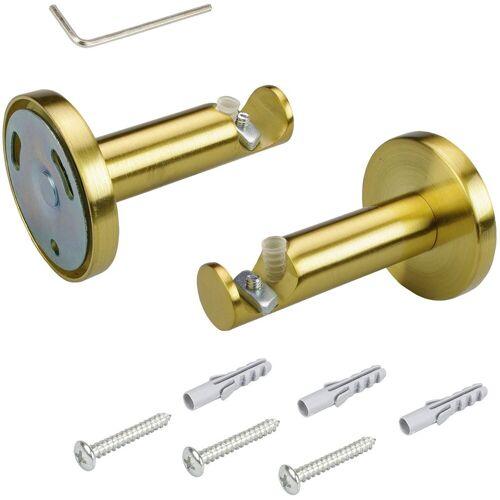 Liedeco Träger, , Gardinenstangen, (1-St), für Gardinenstange Ø 16 mm, goldfarben-matt