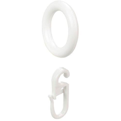 Liedeco Gardinenring, , Gardinen, Gardinenstangen, (8-St), weiß