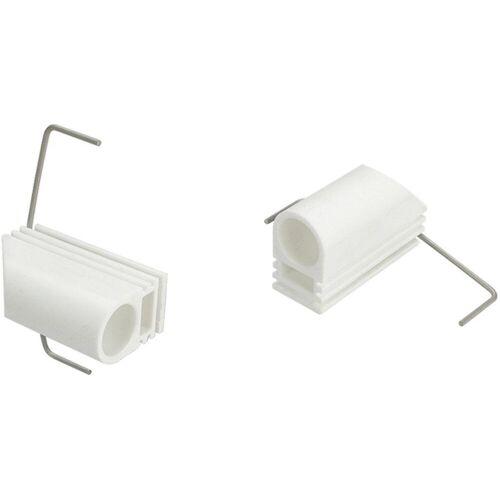 Liedeco Klemmträger, , Cafehausstangen, (Set, 2-tlg), für Cafehausstangen Ø 12 mm, weiß