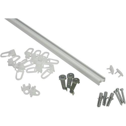 GARDINIA Gardinenschiene »Aluminiumschiene«, , (1-St), Serie Aluminiumschiene Ø 13 mm, weiß